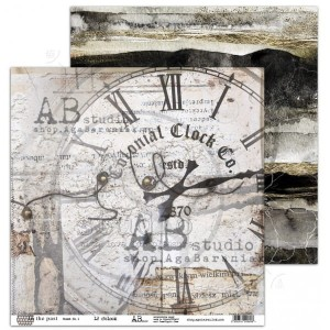 "Papier do scrapbookingu ""In the past""- arkusz 1 - 30x30"