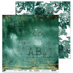 "Papier do scrapbookingu ""Emerald Queen""- arkusz 7 - 30x30"