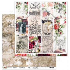 "Papier do scrapbookingu ""Never-never land""- arkusz 4 - 30x30"