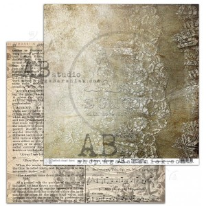 "Papier do scrapbookingu ""Behind closed doors"" - arkusz 5 - Future-memories- 30x30"
