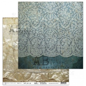 "Papier do scrapbookingu ""Behind closed doors"" - arkusz 8- Let you go - 30x30"