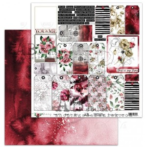 "Papier do scrapbookingu ""Diary"" - arkusz 7 - Red is bad - 30x30"
