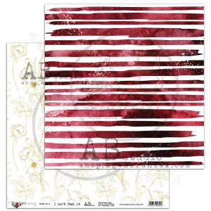 "Papier do scrapbookingu ""Diary"" - arkusz 6 - Can't feel it - 30x30"