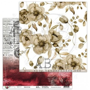 "Papier do scrapbookingu ""Diary"" - arkusz 3 - Memories - 30x30"