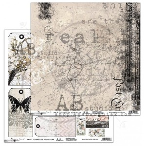 "Papier do scrapbookingu ""Dreamland""- arkusz 6 - Incredible adventure - 30x30"