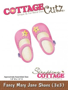 Wykrojnik CottageCutz Fancy Mary Jane Shoes (3x3)
