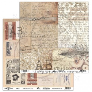 "Papier do scrapbookingu ""Take me there"" 15/16 - Lifetime journey / New horizons - 30x30"