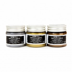 Farby akrylowe metaliczne  Art Alchemy Acrylic Paint Metallique Metals Set - Finnabair (965471)