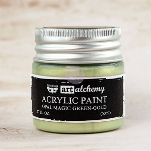 Farba akrylowa  Art Alchemy Acrylic Paint Opal Magic Green-Gold  - Finnabair