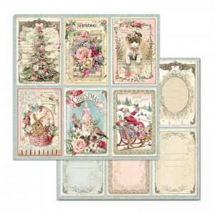 STAMPERIA - papier do scrapbookingu  30x30 - CHRISTMAS 6 kart PINK
