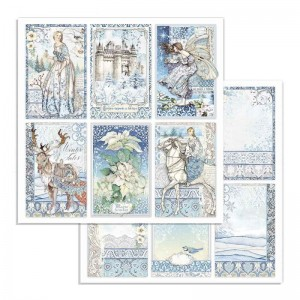 STAMPERIA - papier do scrapbookingu  30x30 - WINTER TALES 6 kart