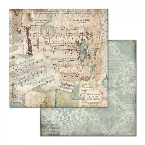 STAMPERIA - papier do scrapbookingu  30x30 - IMAGINE / MUZYKA