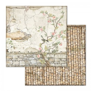 STAMPERIA - papier do scrapbookingu 30x30 - HOUSE OF ROSES / STARY MUR
