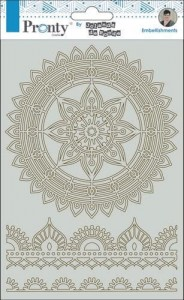 Tekturka Pronty - Chipboard mandala & borders