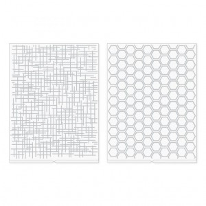 Folder do embossingu We R Memory Keepers - Woven and Honeycomb Revolution Embossing Folder - 2 szt (661198)