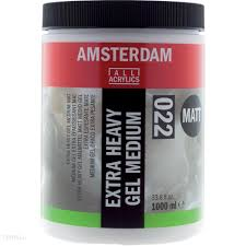 AMSTERDAM EXTRA HEAVY GEL MEDIUM MATT (022) 1000 ml