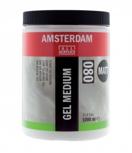 AMSTERDAM GEL MEDIUM MATT (080) 1000 ml
