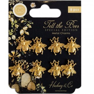 Zawieszka metalowa - Special Edition Metal Charms Gold Bees - Craft Consortium (CCMCHRM020)