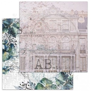 "Papier do scrapbookingu ""The Versailles""- arkusz 3 - Visiting Versailles - 30x30"