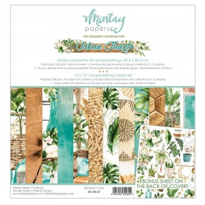 Papier (Zestaw 12+1) Mintay 30x30 - seria URBAN JUNGLE – 07